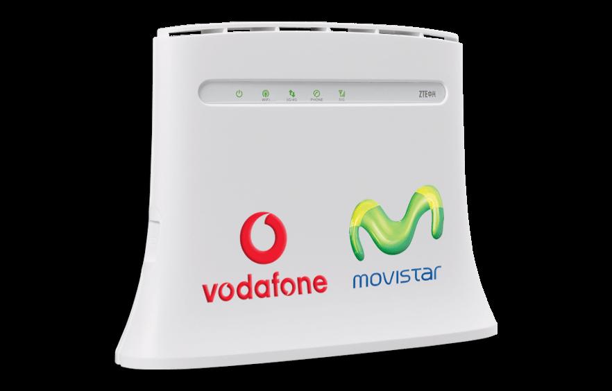 4G internet, on Movistar's or Vodaphone's network